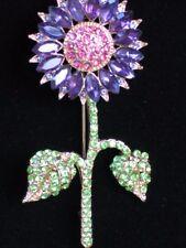 Heidi Daus REPLICA Happy Pink Purple Sunflower Daisy Flower Pin Brooch Jewelry