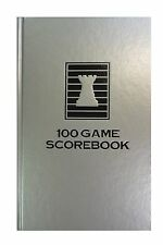 HARDCOVER CHESS SCORE-BOOK - SILVER - 100 GAMES - MADE IN USA