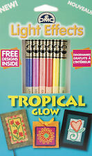 6 Skeins of DMC Cross Stitch Floss / Thread Light Tropical Glow Set #LTE317WPK6