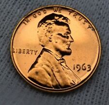 USA 1963 Lincoln Memorial Proof Penny 1 cent