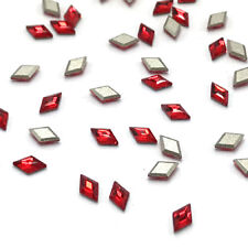12 Swarovski 2773 Diamond Shape Crystal Flatbacks 5x3mm nail art red LIGHT SIAM