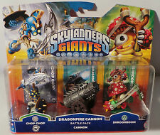 Skylanders GIANTS pack Chop Chop  / dragonfire cannon / shroomboom WII  360  PS3