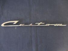 """""""CUSTOM """" Emblem Trim Script Metal Badge  Ornament Nameplate  #7025622"""
