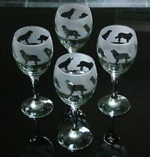 More details for newfoundland dog gift wine glasses