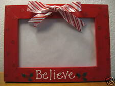 BELIEVE - Santa Christmas holiday photo picture frame