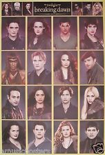 """TWILIGHT SAGA """"CAST COLLAGE OF BREAKING DAWN PART 2"""" MOVIE POSTER FROM ASIA"""