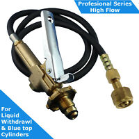 LPG Filler Gun & Hose CGA 555 to POL/BBQ Fitting