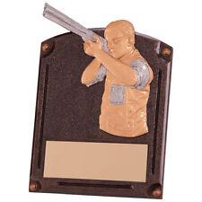 CLAY PIGEON PHEASANT SHOOTING GUN TROPHY 20CM RESIN FREE ENGRAVING RF4151A SS