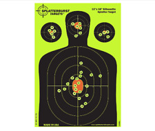 12x18 inch- Silhouette Reactive Shooting Target- Shots Burst Bright Fluorescent
