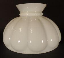 """10"""" Fitter Opal Milk Glass Student Kerosene Oil Banquet White Melon Lamp Shade"""