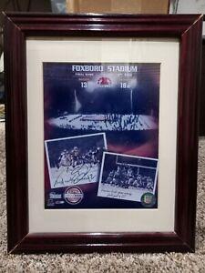Tom Brady Adam Viniteri Autographed 8x10 Snow Game Photo Framed And Matted W/COA