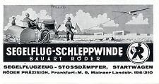 Röder Präzision Frankfurt M.Segelflug- Schleppwinde Stossdämpfer Startwagen 1940
