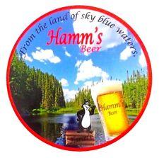 """Hamm's Beer 7"""" Round Metal Sign"""