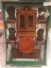 1/12 dolls house miniature Dining Room Furniture Set Table chairs Dresser Side