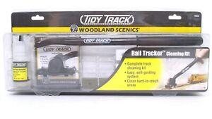 Woodland Scenics N HO O 3-rail Scales Rail Tracker Tidy Track Cleaning Kit READ!