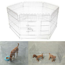 "28"" Foldable Dog Playpen Crate Fence Pet Cat Play Pen Exercise Cage 6 Panel"