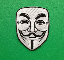 NOVELTY FANCY DRESS SEW ON / IRON ON PATCH:- ANONYMOUS (a) V FOR VENDETTA