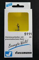 Viessmann 5111 HO  Gleisbauarbeiter, mit pneumatischem Horn , Neu & OVP