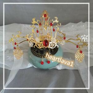 Tian Guan Ci Fu Xie Lian 谢怜Cosplay Hair Tiara Crown Hanfu Headdress Earrings天官赐福