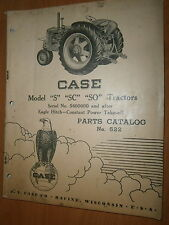Custodia Tractors Models S SC SO - No. 522 : Parts Catalog