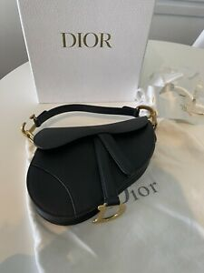Dior Calf Saddle Bag Small Size New Authentic