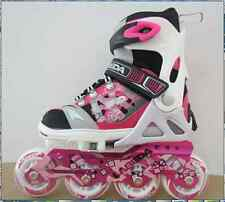 Labeda Adjustable Freestyle Inline Skates/Rollerblades Kids/Girls US 2-5 Pink