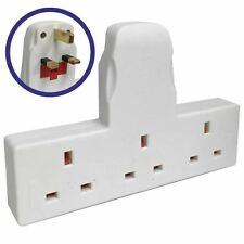 3-Gang Electrical Adapters Home Standard White