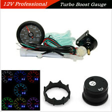 "12V 2"" 52mm 7-Color LED Automobile Turbo Boost Gauge Meter Digital Dual Display"