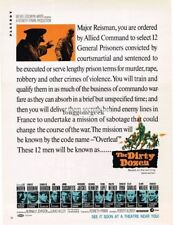 THE DIRTY DOZEN Lee Marvin Major Reisman Orders 1967 Vtg Movie Promo Print Ad