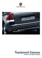 Porsche Cayenne Tequipment Prospekt 2003 8/03 Zubehör brochure brosjyre