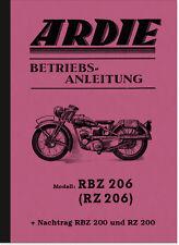 Ardie RBZ RZ 200 206 Bedienungsanleitung Betriebsanleitung Handbuch Manual