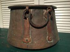 1800s Antique Copper Cauldron/ Kettle/ Planter Pot -Dovetailed- Hand Forged (#2)