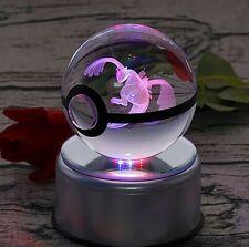 Pokemon Lugia 3D Led Crystal Ball Night Light 80Mm Large Neo Genesis Ex