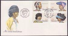 South Africa - Transkei - 1981 - Native Headdresses # 87 - 90 Complete Set FDC