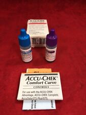 ACCU-CHEK Comfort Curve Glucose Control Solutions 4ml Level 1 & 2 See Desc.