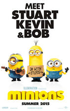 Minions II A1 Movie Poster High Quality Canvas Art Print