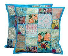 "Indian Handmade Home Decor Floor Vintage Patchwork Cushion Cover 50x50cm 20x20"""
