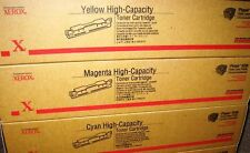 Set of 3 XEROX 106R00672 106R00673 106R00674  High Cap TONER CART OEM 6250 CYM