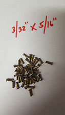 "Pack of 20 Semi Tubular BRASS RIVETS 3/32"" x 5/16"" antique slot machine ""A""."