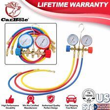 3FT AC Diagnostic Manifold Freon Gauge Set for R134A R12, R22, R502 Refrigerants