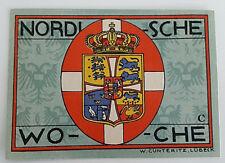 LUBECK NOTGELD 50 PFENNIG 1921 *DANMARK KROWN* EMERGENCY MONEY GERMANY (5263)