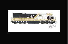"Louisville & Nashville U30CXR 11""x17"" Matted Print Andy Fletcher signed"