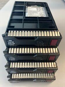 "4x Disque HPE HDD 2.5"" 600GB 15K SAS HPE SFF + Adaptateur 3.5"" + Adaptateur 2.5"""
