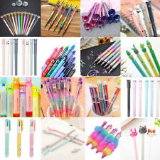 Lovely Gel Pen Ballpoint Colorful Stationery Writing Sign Child School Office