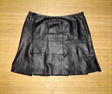 jupe  LOLA en cuir noir souple taille 40 fr