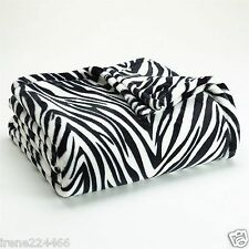 The Big One Zebra Stripes Brown Plush Throw Blanket Microplush 60x80 NWT $40