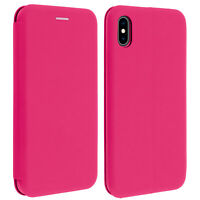 Apple iPhone XS Max Case Card Holder Stand Function Fuchsia