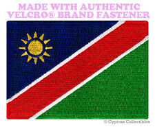NAMIBIA FLAG PATCH AFRICAN EMBROIDERED AFRICA SOUVENIR w/ VELCRO® Brand Fastener