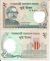 BANGLADESH 2 TAKA 2016 LOTE DE 5 BILLETES
