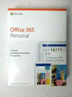 Microsoft Office 365 Personal 1-User License 1-Year (PC or Mac) **NEW SEALED**